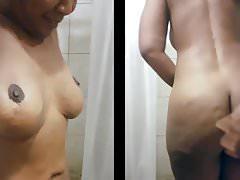 black milf dancing naked in the shower