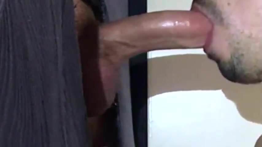 Big dick man cums twice at gloryhole, wholesome girls having sex