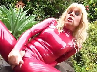 Preview 5 of Latex tranny cumshot