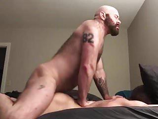 Bearded Muscle Daddy Fucks his Boy