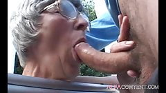 Hot 60 old year woman enjoy in