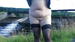 by a dam in car park dogging