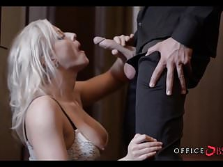 Blonde MILF at the Office