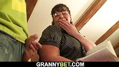 Guy picks up big tits mature woman