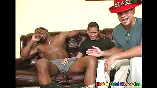 Preview 1 of Black men sharing the ass of a guy