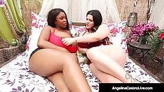 BBWs Angelina Castro & Maserati Suck & Fuck A Latino Cock!