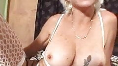 Horny blonde in lingerie gets her ass stuffed