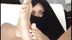 Arab Girl Footjob