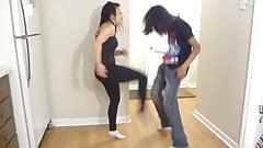 Extremely Hard Kicks Knees to the Balls