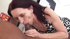 Skinny old slut enjoys young cock