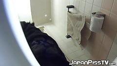 Japanese amateur filmed during pissing session