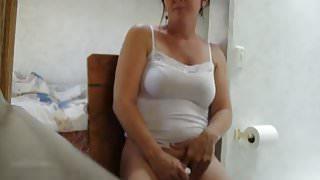 Women finish masturbate before getting caught