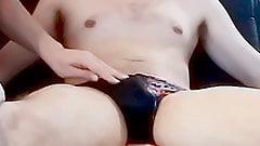 Helping Hand Cock Massage in Speedo