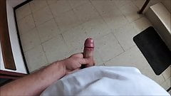 Shoot a nice load of cum in the stairwell