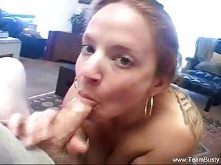 Redhead MILF Sucking Sons Cock