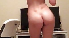 Teen showing off naked