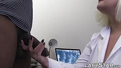Doctor GILF healed with patients massive black dick