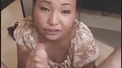 Cute Asian girlfriend giving b