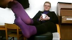 Purple Nylons Teacher