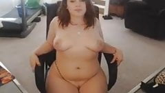 Chubby beauty with nice strip