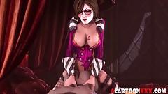 Big dick futanari babe fucking sexy ass 3D babes