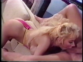 Vintage blonde gets her asshole plugged and eats semen