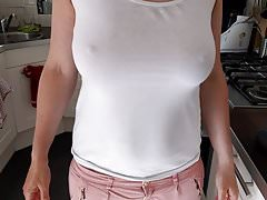 Big tits braless amateur