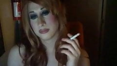 Beautiful Trans Smoke Fetish