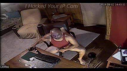 Hacked IP Cam Man Jerking Off Spycam