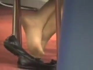Vintage Candid Shoeplay Feet in Nylons