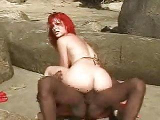 sexy Cinzia having fun on the beach