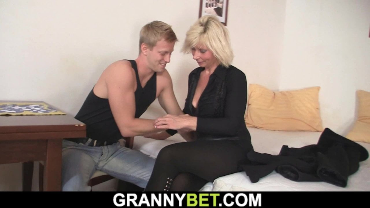 Free download & watch he doggy fucks hot looking blonde mature woman          porn movies