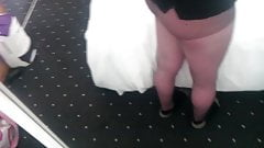 Teen Cums in Pantyhose and Ankle Socks
