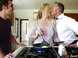 Orally pleasured milf banged by her stepson