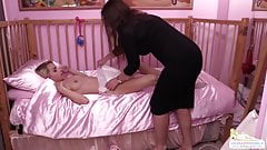 Nanny Betty punishing Chloe Toy for using the magic wand