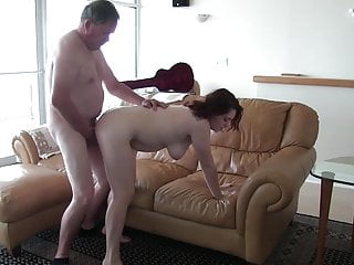 White Slut Amy Fucks 65 Year Old Guy pt1