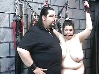 Free clothed amateur guys - Guy in clothes punishes naked girl in dungeon