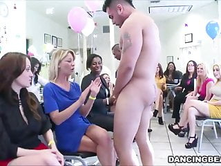 Birthday orgy with cock hungry women