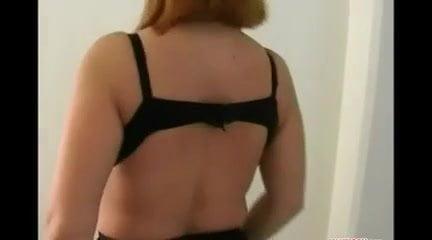 Hot redhead masturbates
