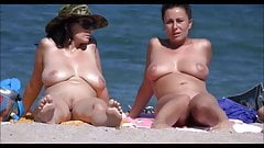 Busty Milfs On Beach