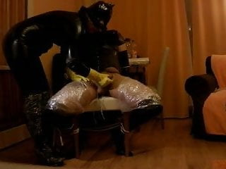 Preview 6 of intense P.O.T. femdom handjob private sesion with breathplay