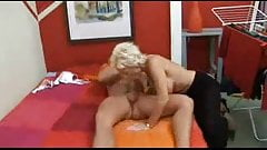 Blond busty Mother loves to fuck  with her young lover