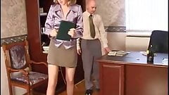 Russian mature Henrietta fucked in the office