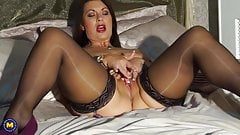 Sexy British mom Christine with big natural tits