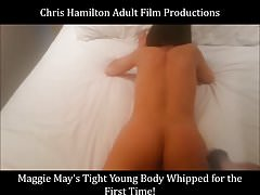 Maggie May's Tight Young Body Being Whipped For Her First Ti