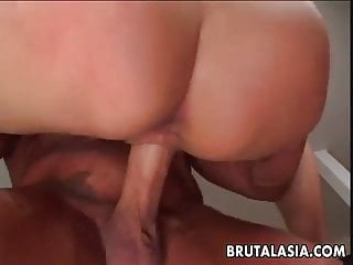 Super hot Thai with juicy assets rides the fat dick