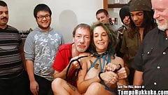 Pregnant ANAL Gangbang Slut With Tattoos Bukkake Party!