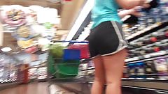 Slim Tall Thicky White Chick In shorts