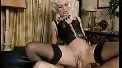 Pierced blonde MILF anal sex