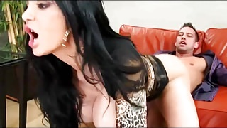 Boss milf threatens worker for sex with big tits